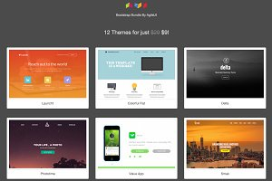 12 in 1 - Bootstrap Landing Themes