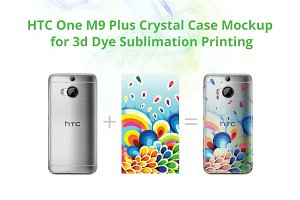 One M9+ 3d Crystal Case Mock-up