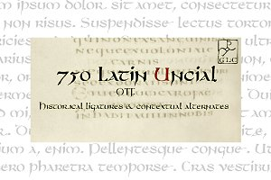 750 Latin Uncial OTF