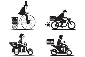 Delivery of pizza