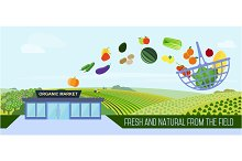 Supermarket natural products.