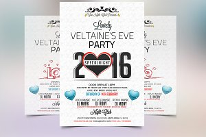 Valentines Eve 2016 Party Flyer