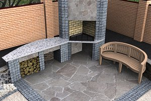 Landscape design recreational space