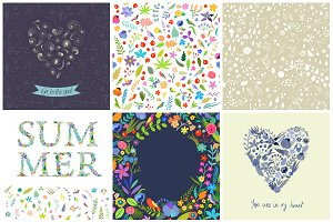 29 Summer Patterns EPS & JPG