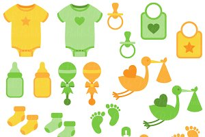 Gender Neutral Baby Clipart & Vector