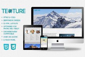 Texture HMTL5 & CSS3 Web Template