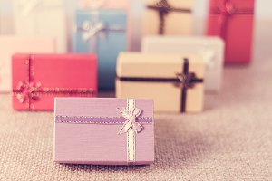 Colourful small gift box