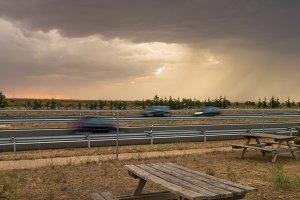 Storm on the highway II