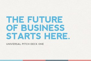 Universal Pitch Deck One PowerPoint