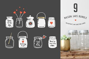 Mason Jars, wedding, Valentine's day