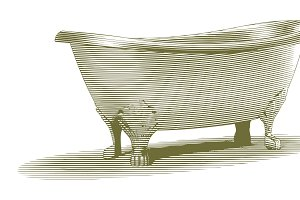 Engraved Bath Tub