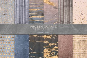 Frozen Quartz Watercolor & Gold