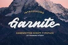 Garnite - Handwritten Script by  in Fonts