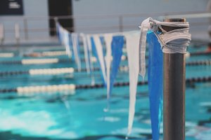 Swimming Pool Finish Line