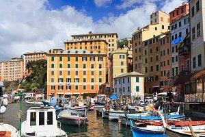 harbor in Camogli, Italy
