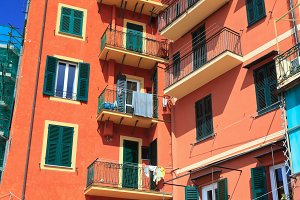 homes in Camogli, Italy