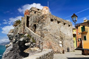 Dragonara castle in Camogli