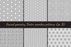 Sacred geometry Seamless Patterns