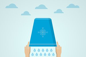 Ice Bucket Challenge flat vector