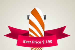 The best price striped longboard