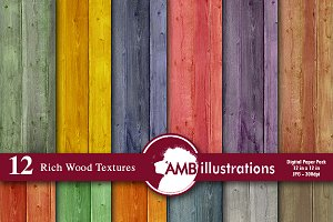 Wood Textures Digital Paper AMB-1139