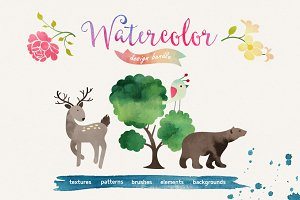 Watercolor Bundle 57% OFF