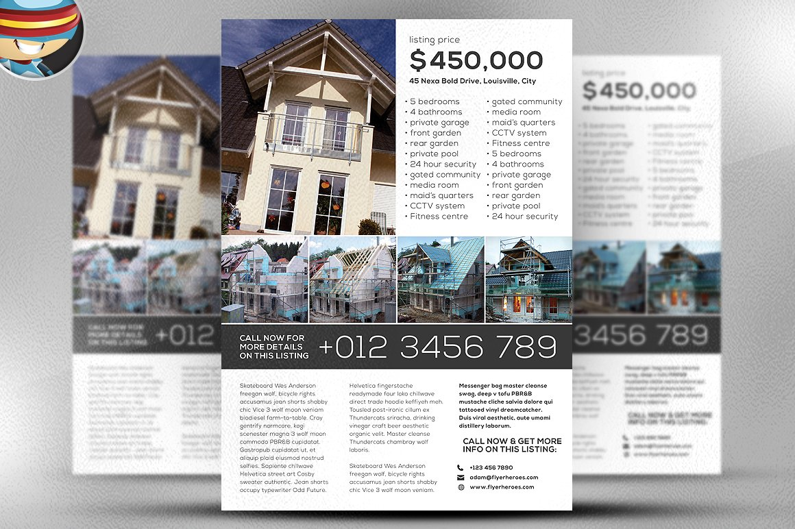 Real Estate Brochure Template Pasoevolistco - Real estate brochure templates free