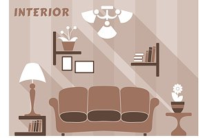 Living room modern interior design i