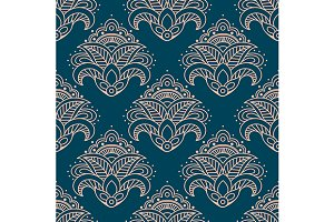 Paisley bell shaped flowers seamless