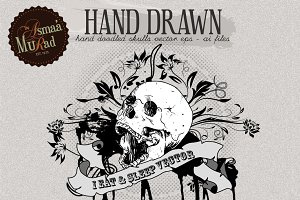 Hand Drawn Vector Skulls-SALE!
