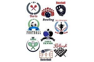 Sporting competition emblems