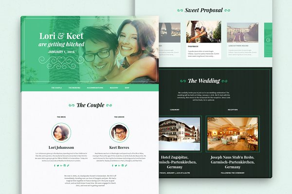 HTML/CSS Themes: Lieur Shop - Lovebird - One-Page Wedding HTML/CSS