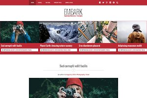 Embark - Responsive Blog WP Theme