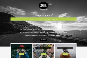 Critic - Responsive Blog WP Theme