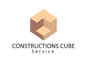 Construction Cube Logo Template