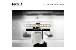 Lavisha - Minimalist Blog WP Theme