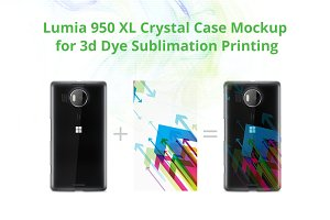 Lumia 950 XL 3d Crystal Case Mock-up