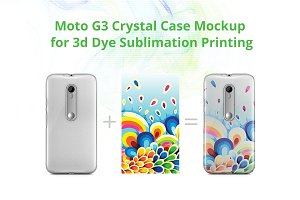 Moto G3 3d Crystal Case Mock-up