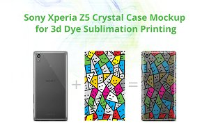 Xperia Z5 3d Crystal Case Mock-up