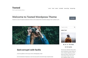 Texted-Text Focused Bootstrap Theme