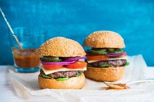 Fresh beef burgers