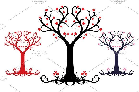 Heart Tree - Vector Design