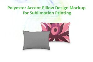 Accent Pillow Cover Design Mock-up