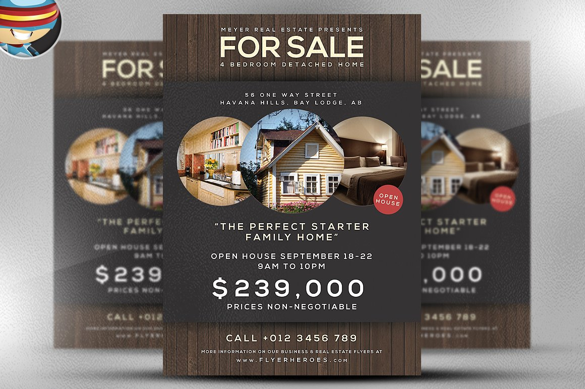 flyer heroes flyerheroes real estate flyer templates family home flyer template