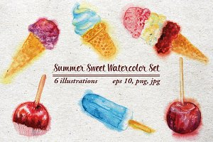 Summer Sweet Watercolor Set