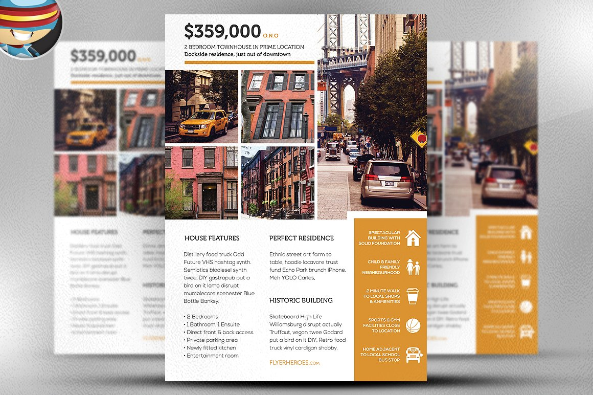 For Sale By Owner Template Flyer Free Pasoevolistco - Real estate brochure templates