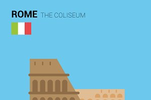 The Coliseum, Rome (Italy). Vector