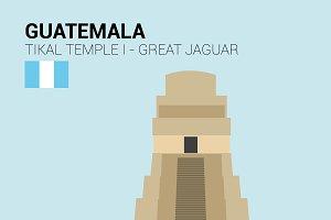 Great Jaguar Temple,Tikal, Guatemala