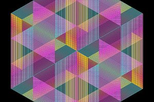 Triangle Color Lines Pattern