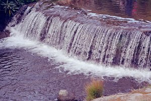 water fall in retro filter lighting